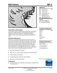 Silt Fence SE-1 - State Water Resources Control Board - State of ...