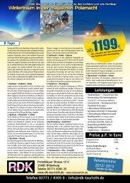 Telefon 02771 / 8305 0 - info@rdk-touristik.de - Reisemail24