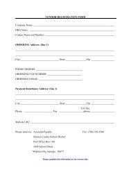 Vendor Registration Form - Oconee County Schools
