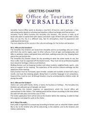 GREETERS CHARTER - Office de tourisme de Versailles