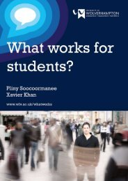 What works for students final report - University of Wolverhampton