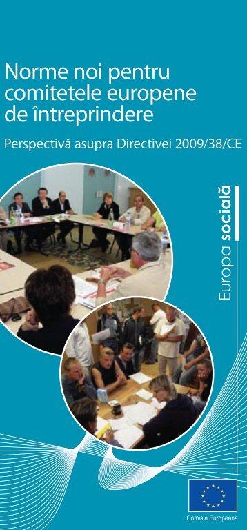 Norme noi pentru comitetele europene de întreprindere - Europa