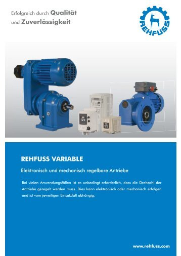 Regelbare Antriebstechnik - Krautloher GmbH