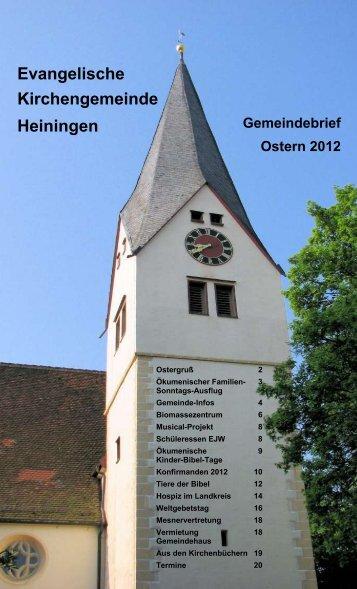 Liebe Konfirmandinnen und Konfirmanden - Evangelische ...