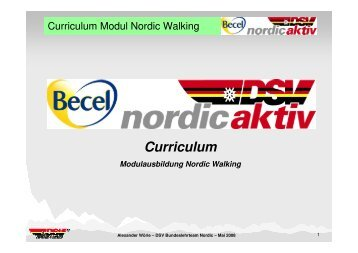 DSV Curriculum Nordic Walking - Deutscher Skiverband