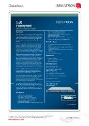 Datasheet Datasheet Newtec EL470 - Sematron UK Ltd.