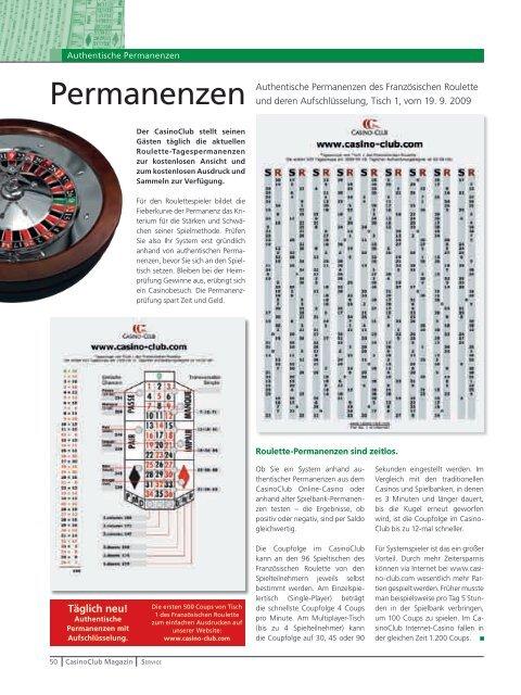 Casinoclub Authentische Permanenzen