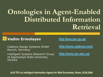Presentation (PDF - ~193k) - Vadim Ermolayev