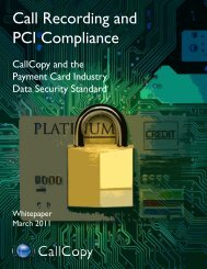 Call Recording and PCI Compliance - CRMXchange