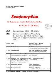 Seminarplan