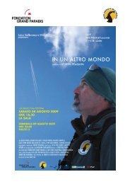 cartella stampa in un altro mondo - Festival del film Locarno