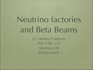 Neutrino Factories & Beta Beams