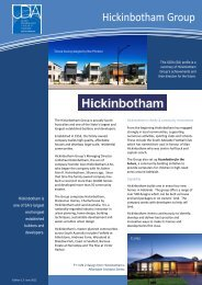 Hickinbotham Group - UDIASA - Urban Development Institute of SA