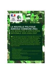 LA NOUVELLE POLITIQUE AGRICOLE COMMUNE (PAC) LES ...