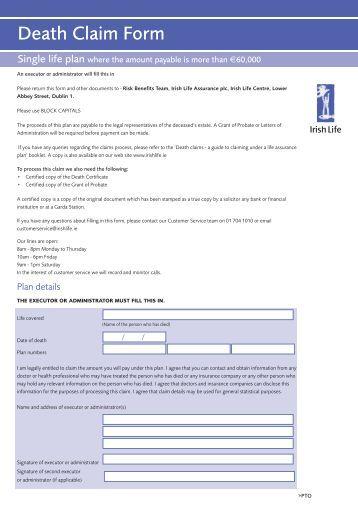 Aaa Life Insurance Death Claim Form Life Insurance Blog
