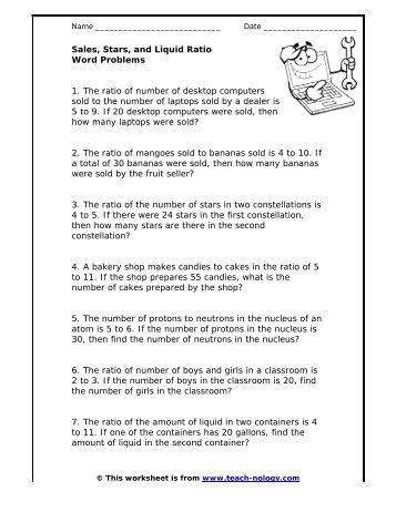 Word Problems Worksheets - Delibertad