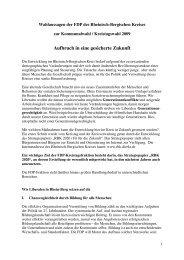 Wahlkampfaussagen der FDP-Kreistagsfraktion - FDP Kreisverband ...
