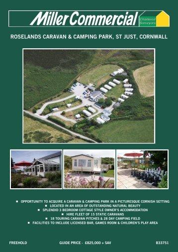 roselands caravan & camping park, st just ... - Miller Commercial