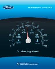 Sustainability Report Summary 2011/12 - Ford Motor Company