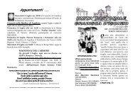 Appuntamenti ... - Parrocchia di Gradisca d'Isonzo
