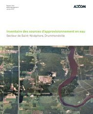 Inventaire des sources d'approvisionnement en eau – AECOM - BAPE