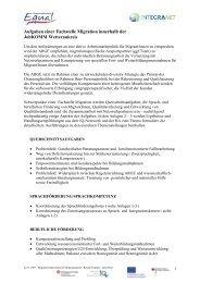 Aufgaben einer Fachstelle Migration innerhalb ... - KUMULUS-PLUS