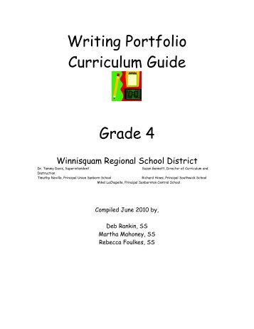 Writing Portfolio Curriculum Guide Grade 4 - Winnisquam Regional ...