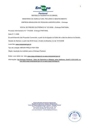 Protocolo Nº 113001 - Embrapa Pantanal