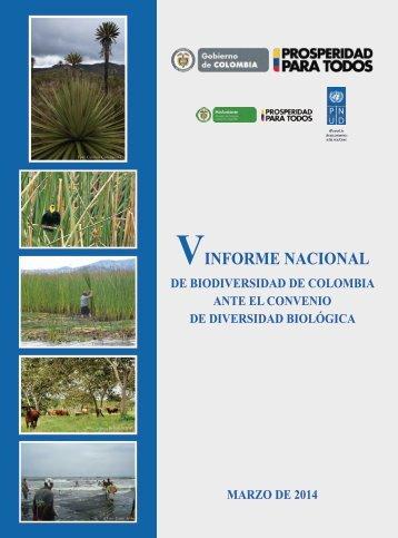 V INFORME NACIONAL DE BIODIVERSIDAD DE COLOMBIA
