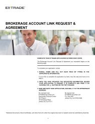 BROKERAGE ACCOUNT LINK REQUEST & AGREEMENT - E*Trade