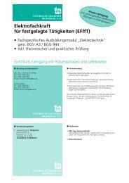 Elektrofachkraft für festgelegte Tätigkeiten (EFffT) - Geltec