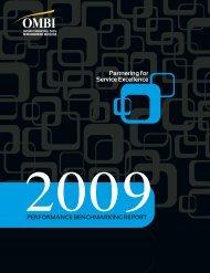 OMBI 2009 Performance Benchmarking Report - Region of Waterloo