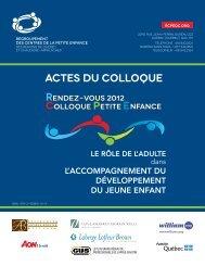 actes du colloque - Rcpeqc.org