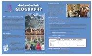 brochure - Geography, Department of