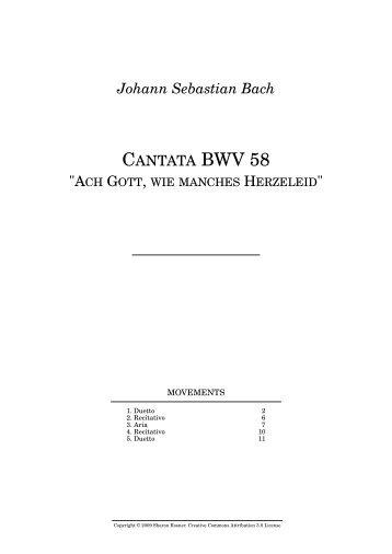 Johann Sebastian Bach CANTATA BWV 58