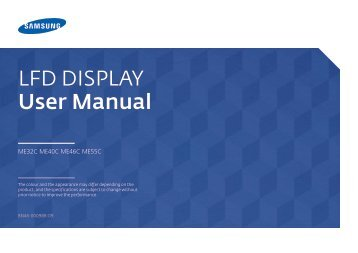 Samsung ME40C User Manual - Touch Screens Inc.