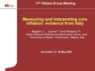 Measuring and Interpreting core inflation evidence from Italy