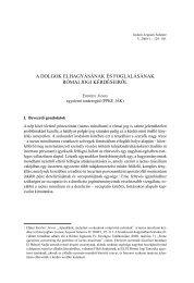 A dolgok elhagyásának és foglalásának római jogi kérdéseiről - IAS