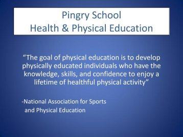 Health & Physical Education - Pingry School