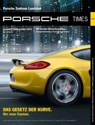 DAS GESETZ DER KURVE. - Porsche Zentrum Landshut