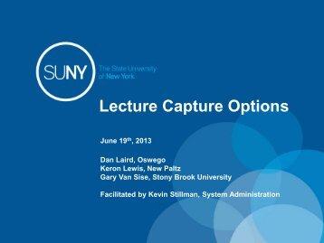 Understanding Lecture Capture Options