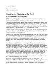 Blocking the Sky to Save the Earth - David Keith