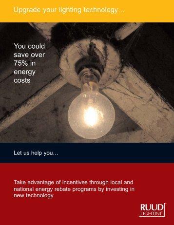 Energy brochure single pages - Ruud Lighting Direct