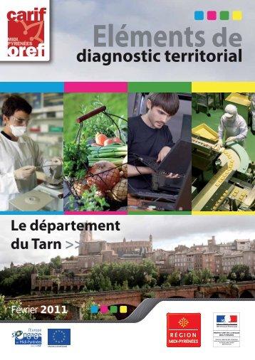 Eléments de diagnostic territorial 2010 : Tarn - Carif Oref Midi-Pyrénée