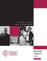 RHF Annual - Retirement Housing Foundation