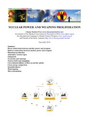 nuclear power and weapons proliferation - Friends of the Earth ...
