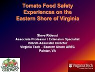 Food Safety Issues on the Eastern Shore of Virginia - Florida Ag Expo