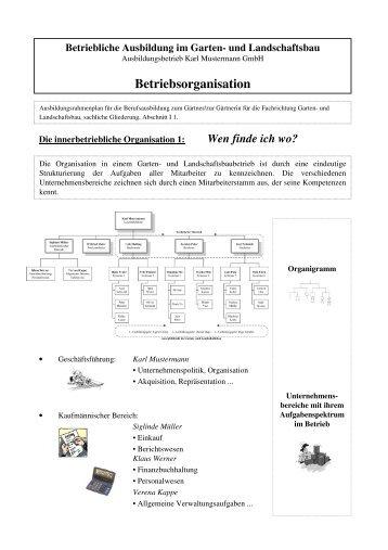 Betriebsorganisation