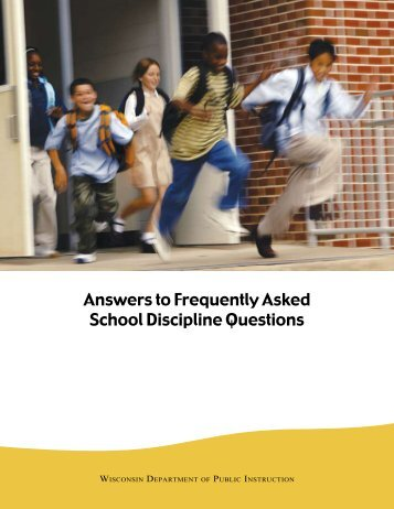 Answers to Frequently Asked School Discipline Questions - Student ...