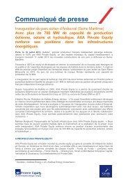Inauguration du parc éolien d'Ardouval (Seine ... - Axa Private Equity